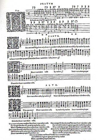 Emmanuel Adriaenssen - Page (f. 59v) of the Pratum Musicum