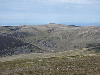 High Pike - High Pike seen across the Caldew valley from Bowscale Fell, 5 km to the SE.
