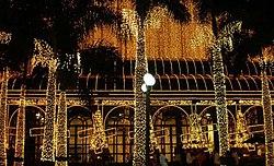 Shopping Pátio Higienópolis à noite.