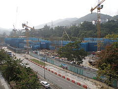 Hin Keng Station under construction in January 2015.JPG