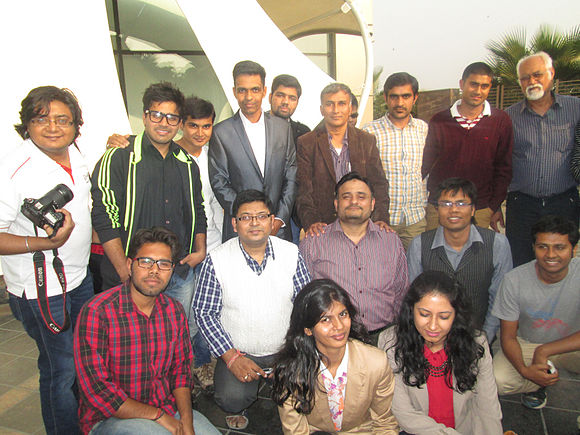 Hindi Wiki Sammelan Meetup Group Photo