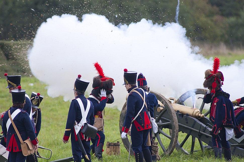 Historical reenactment of 1812 battle near Borodino 2011 2