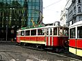 Historical tram on the line 91 in Prague - 2012 -2.JPG
