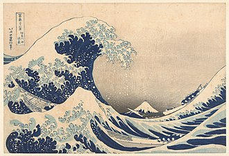 Printmaking - Katsushika Hokusai The Underwave off Kanagawa, 1829/1833, color woodcut, Rijksmuseum Collection