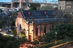 Garrison Church (Sydney) - The Garrison Church from Observatory Hill
