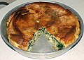 Homemade pie (burek) with spinach and cheese 02.jpg