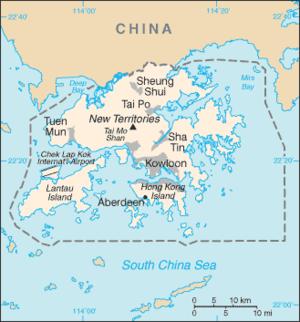 Karte China Hong Kong.Liste Der Ortschaften In Hongkong Wikipedia