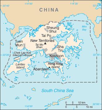 Hong Kong-CIA WFB Map