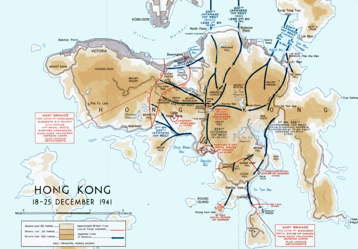 Battle Of Hong Kong Wikipedia - Black widow us map