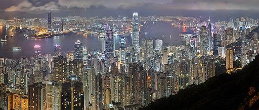 Hong Kong Night Skyline