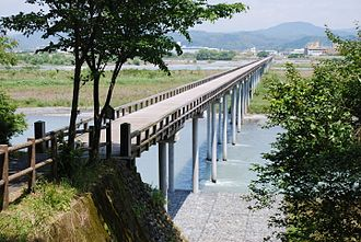 Shimada, Shizuoka - Hōrai Bridge in Shimada