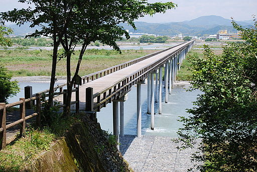 Horai-bridge1,Shimada-city,Japan