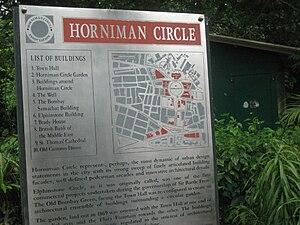 Horniman Circle Gardens - Horniman Circle sign
