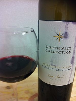American wine - The Pacific Northwest includes in the winemaking regions of Washington State where varieties like Cabernet Sauvignon are grown.