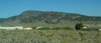 Long Valley Caldera - Hot Creek Fish Hatchery at base of Resurgent Dome