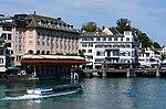 Hotel zum Storchen - Haus zum Schwert - ZSG Limmatboot 'Regula' - Münsterbrücke 2013-09-07 12-26-04.JPG