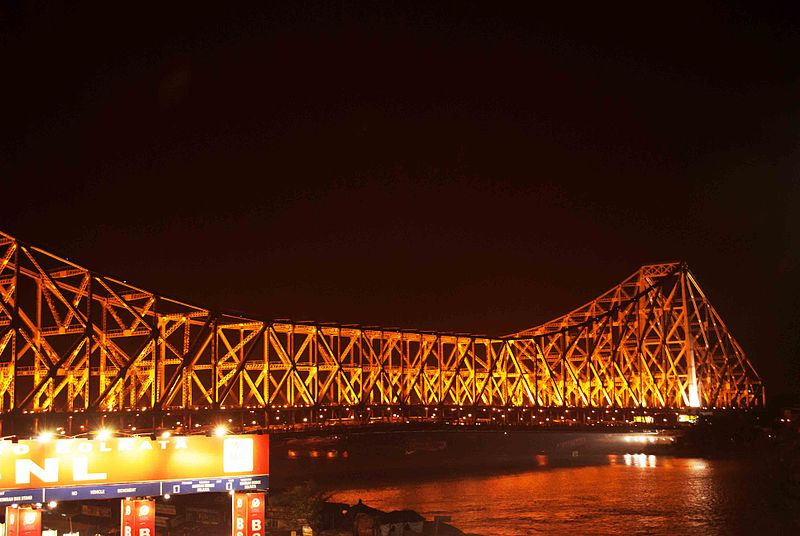 File:Howrah Bridge at night.jpg