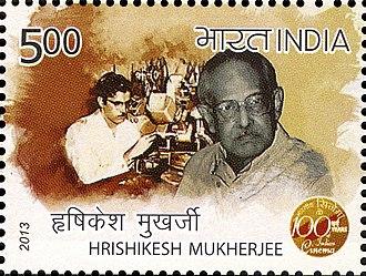 Hrishikesh Mukherjee - Mukherjee on a 2013 stamp of India