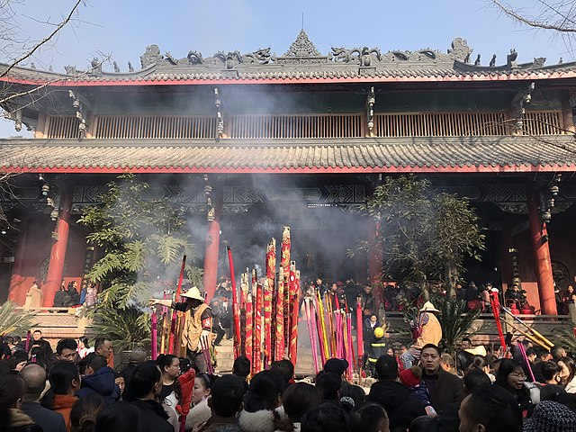Huayan temple during Chinese New Years 2018.