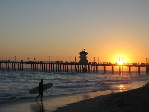 Huntington Pier Surfer