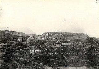 Hvítanes Village in Faroe Islands, Kingdom of Denmark