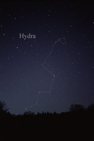 Hydra (constellation) - The constellation Hydra as it can be seen by the naked eye.