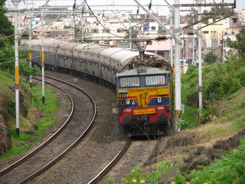 ICE to Bombay Indian Railways