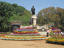 IISc campus Statue of the founder Jamshedji Tata.JPG