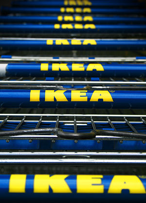 IKEA shopping carts in Cologne, Germany