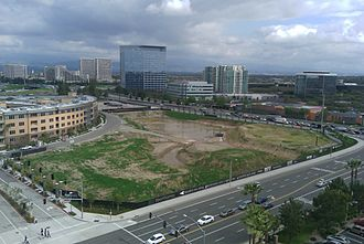 Irvine, California - The developing urban core in the city of Irvine in 2010