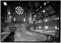 INTERIOR, NAVE, LOOKING TOWARD ENTRANCE - First Baptist Church, 5 Magazine Street, Cambridge, Middlesex County, MA HABS MASS,9-CAMB,51-5.tif