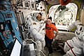 ISS-56 Alexander Gerst and Serena Auñón-Chancellor in the Quest airlock.jpg