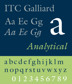 Galliard (typeface) - Image: ITC Galliard