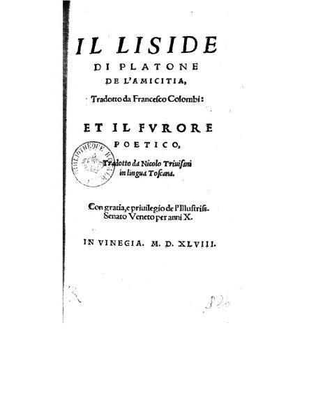 File:Il Liside di Platone De l'Amicitia, et il Furore Poetico.djvu
