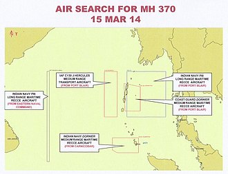 Andaman and Nicobar Command - India's search areas for Malaysia Airlines Flight 370.