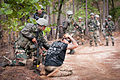 Indian Army soldiers demonstrate to U.S. Army paratroopers how they detain prisoners during Yudh Abhyas 2013.jpg