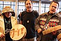 Indigenous Peoples Day performers at Seattle City Hall, 2014 (50461492868).jpg
