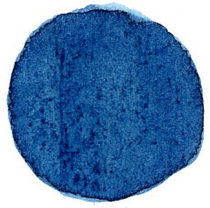 Indigo - Extract of natural indigo applied to paper