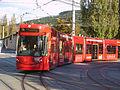 Innsbrucker Verkehrsbetriebe Tram car 351 running on line STB.jpg