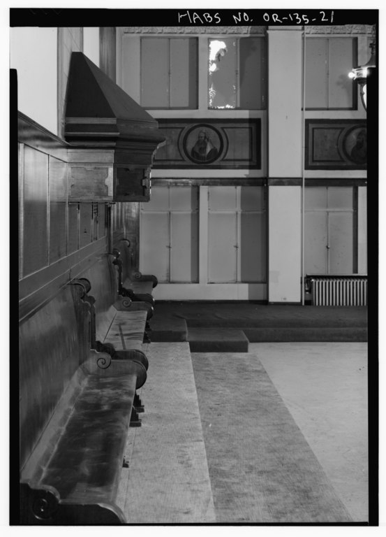 File interior ceremonial hall detail of west wall benches and canopy looking north odd for Interior car detailing portland or