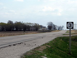 Iowa Highway 3 - Iowa Highway 3 runs east of Humboldt.