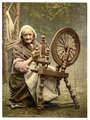 Irish spinner and spinning wheel. County Galway, Ireland-LCCN2002717414.tif