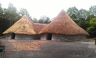 St Fagans National Museum of History - Image: Iron Age roundhouses at St Fagans