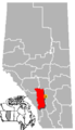 Irricana, Alberta Location.png