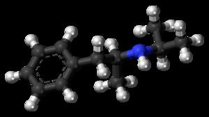 Isopropylamphetamine - Image: Isopropylamphetamine molecule ball