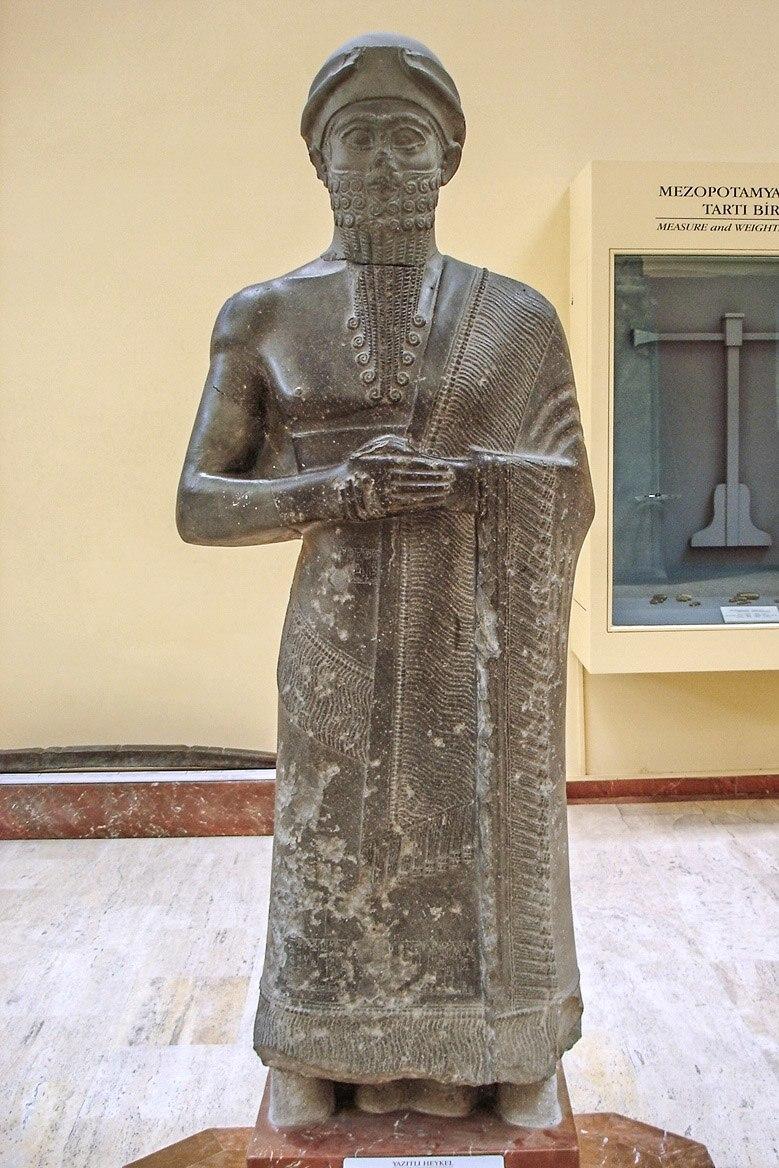 Istanbul - Museo archeol. - Puzur Ishtar, governatore di Mari (fine 3o mill aC) - Foto G. Dall'Orto 28-5-2006