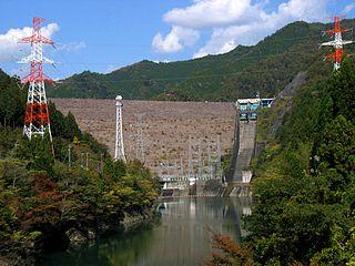 Iwaya Dam dam in Gero, Gifu Prefecture, Japan