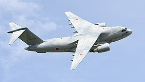 JASDF C-2(78-1206) fly over at Miho Air Base May 27, 2018 03.jpg