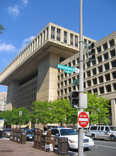 J. Edgar Hoover Building, sede centrale dell'FBI a Washington.