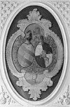 jachtkamer, wapenschildering met gereinigd gedeelte - gronsveld - 20094537 - rce